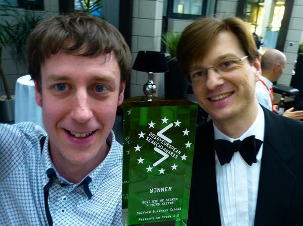 European-search-awards-Alex Fenton and Aleksej Heinze Salford Business School