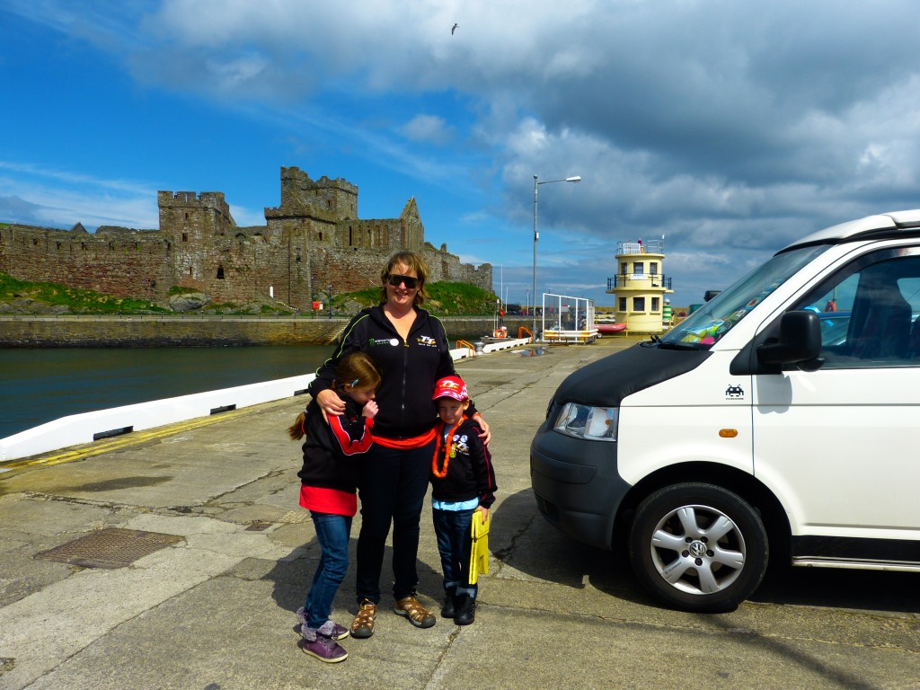 Parked up at Peel Castle
