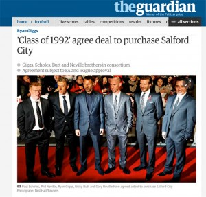 Class of 92 take over Salford City FC, Guardian Article
