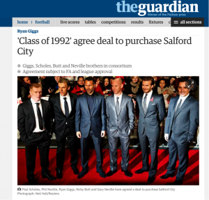 Class of 92 purchase Salford City FC, Guardian article