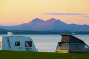 Campsite at Port Charlotte, Port Mor