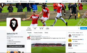Salford FC on Twitter - football and social media