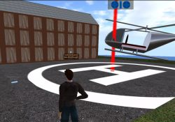 Second life building helipcopter