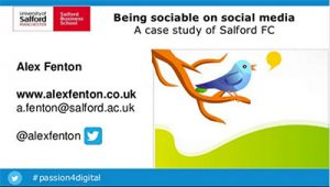 Being sociable on social media - netnography