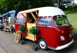 Vangollen festival - traders in a camper