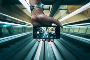 Smartphone in a tunnel